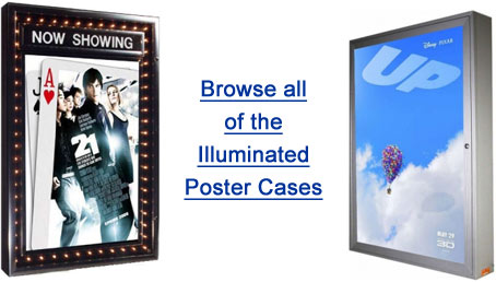 Lighted Poster Cases