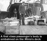 Titanic passenger's body is embalmed