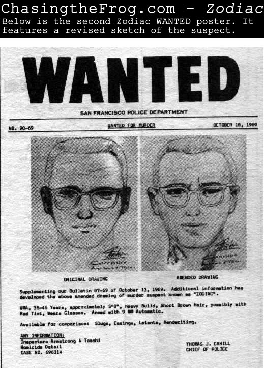 Zodiac Movie vs Zodiac Killer True Story Robert Graysmith – Real Wanted Poster
