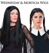 Wednesday and Morticia Wigs
