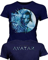 Navy Neytiri Face shirt