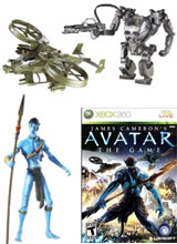 Na'vi Avatar action figures and video games