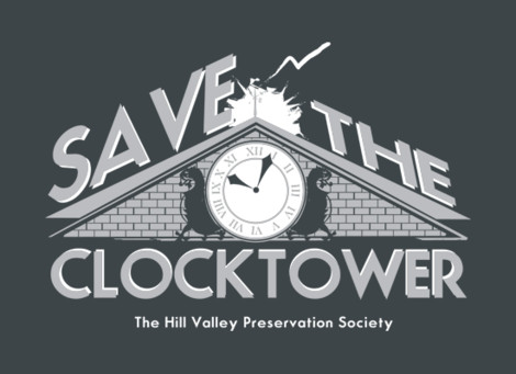 Save the Clocktower BTTF t-shirts