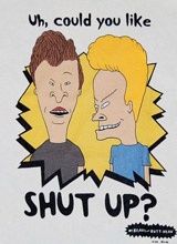 Beavis and Butthead Shut Up t-shirt