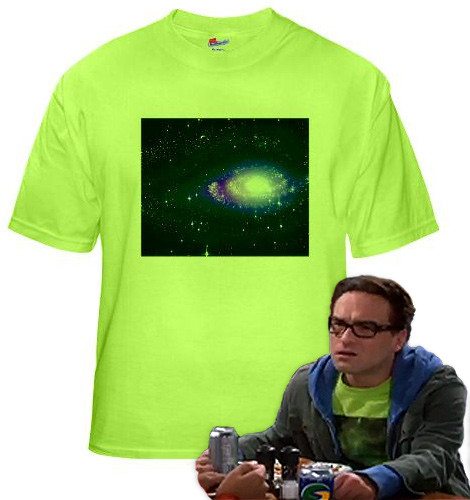 Leonard's Green Galaxy shirt