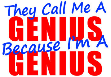 sheldon they call me a genius quote tee