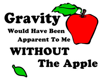 Sheldon Big Bang Theory Gravity Apple Quote
