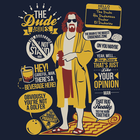 Big Lebowski Quotes t-shirt