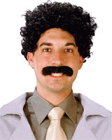 borat costume moustache and wig