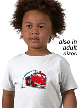Disney Cars Red Fire Truck t-shirt