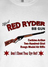 Red Ryder BB Gun t-shirt