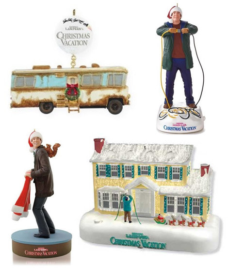 Christmas Vacation Ornaments, Cousin Eddie's RV, House, Tree