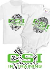 CSI in training onesie tee