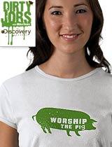 worship the pig t-shirt