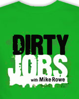 slime green dirty jobs t-shirt