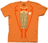 Lloyd Orange Tuxedo shirt