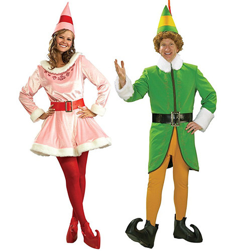Jovie and Buddy the Elf costumes