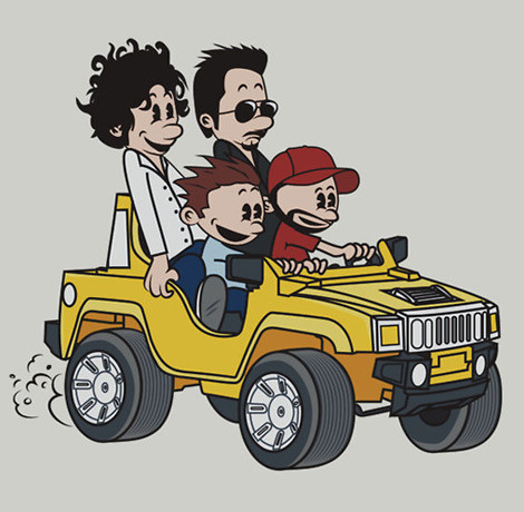 Entourage Calvin and Hobbes shirt