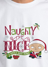 Naughty or Nice Family Guy t-shirt