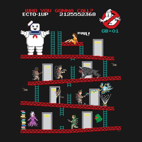 Ghostbusters Donkey Kong shirt
