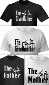 Godfather Logo t-shirts family members