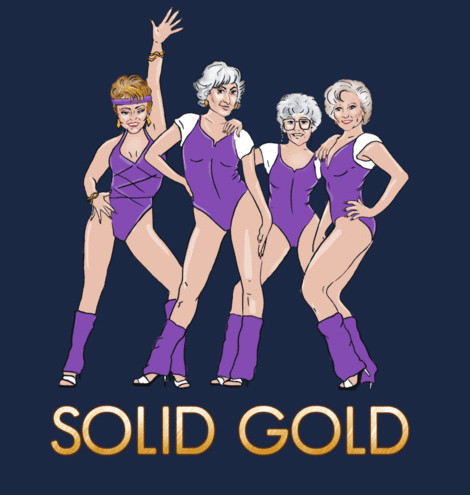 Solid Gold Golden Girls tee