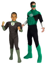 Adult and Kids Green Lantern costumes