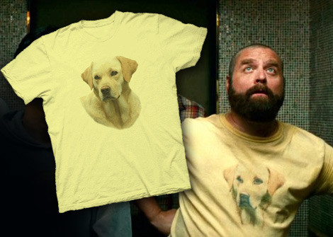 Hangover 2 Costume Yellow Lab Dog tee
