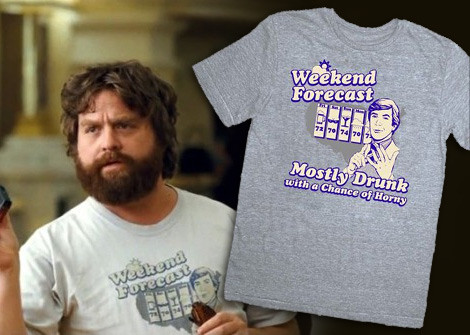 Alan Weekend Forecast t-shirts