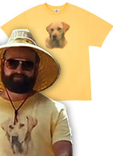 Yellow Lab shirt from The Hangover 2