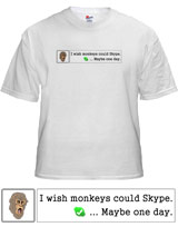 Hangover 2 Monkey Skype Quote shirt