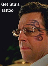 Hangover 2 Stu Tattoo - Temporary Mike Tyson Tattoo