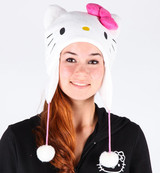 white Hello Kitty Hat