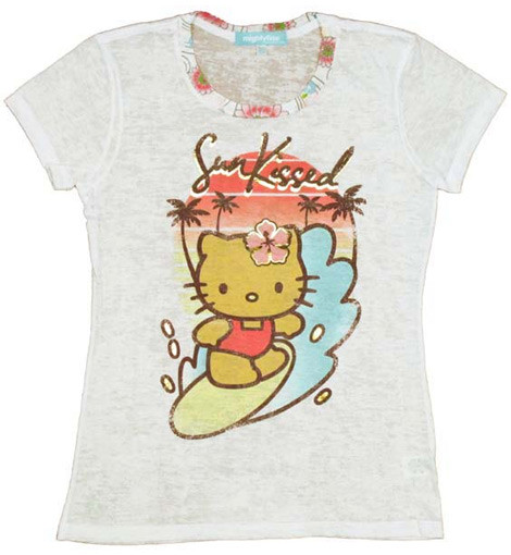 Hello Kitty Surfing t-shirt