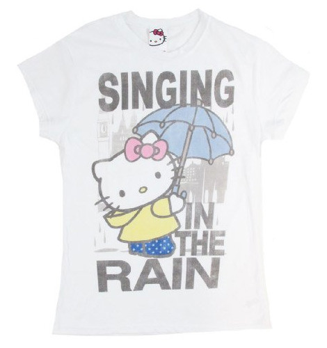 Hello Kitty Singing In The Rain tee