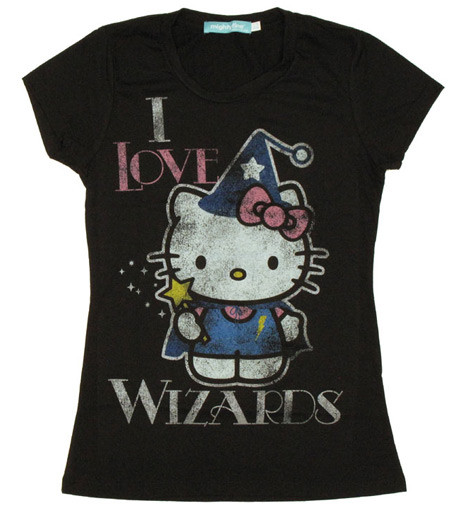 I Love Wizards Hello Kitty tee shirt