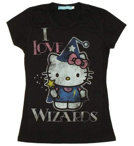 I Love Wizards Hello Kitty tee shirt