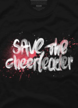 heroes save the cheerleader save the world t-shirt