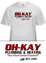 OH-KAY Plumbing Home Alone tee