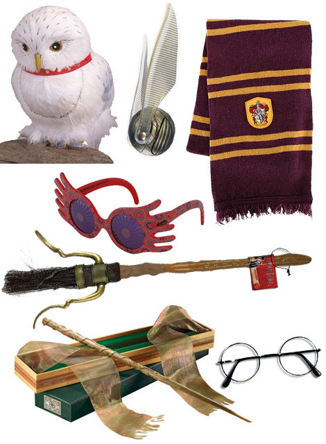 Harry Potter Magic Wands, Ties and Broomsticks