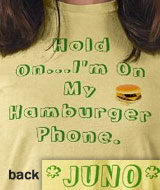 Juno Hamburger Phone t-shirt