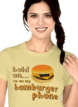 Hamburger Phone Juno tee