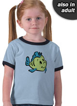 Little Mermaid Flounder shirt