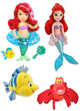Little Mermaid Bath Toys, Dolls, Sebastian Plush