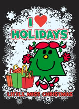 Little Miss Christmas I Heart Holidays tee