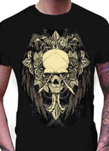 Fortune Telller Skull Miami Ink t-shirt