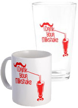 I Drink Your Milkshake Glasses, Mugs, Drinkware