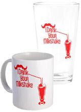 I Drink Your Milkshake Glasses, Mugs, Drinkware
