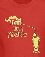 moustache and shake quote tee