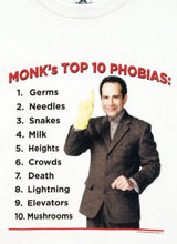 Top Ten Monk Phobias tee